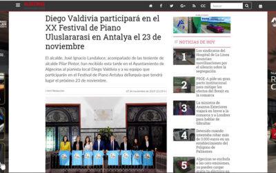 Diego Valdivia participará en el XX Festival de Piano Uluslararasi en Antalya el 23 de noviembre