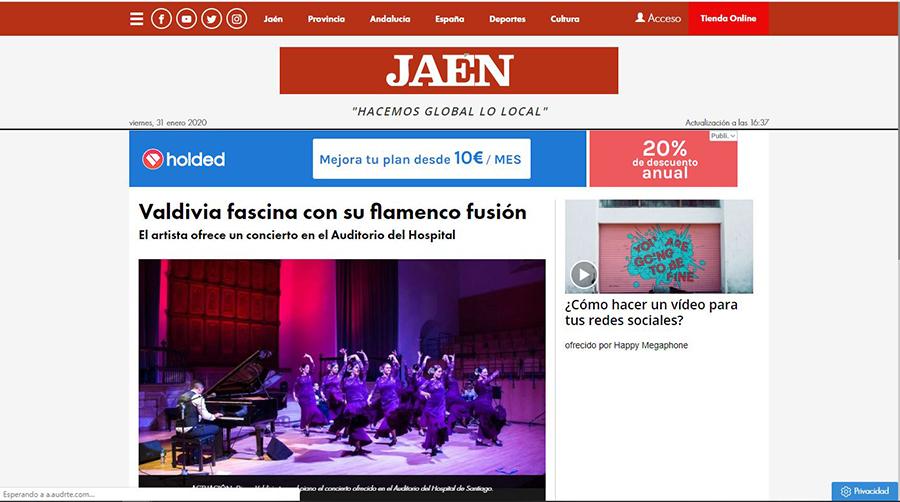 Valdivia fascina con su flamenco fusión